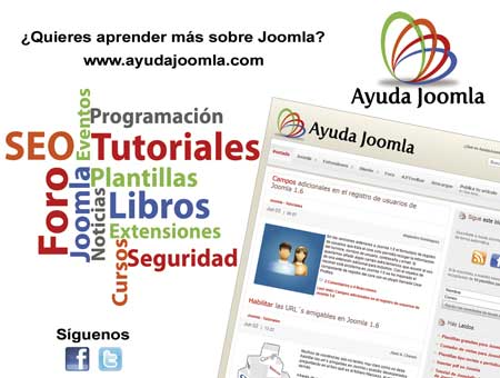 Joomla redes sociales